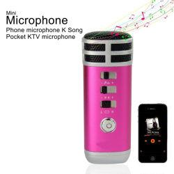 Пение в любом месте записи мини-микрофон караоке для iPhone Android Windows Smartphone