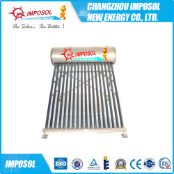 Os componentes de alumínio aquecedor solar de água de alta qualidade, preço do aquecedor solar