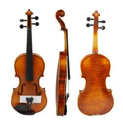 Professional llama naturales hechos a mano antiguo precios baratos de violín en China 4/4.