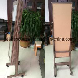 Колеса постоянного деревянные зеркальный шкаф ювелирных изделий
