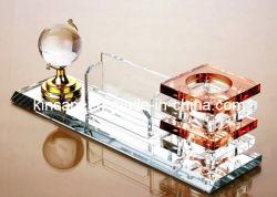 Porte-stylet de cristal pour la papeterie de bureau (KS05081)