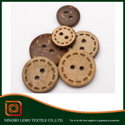 Botón de bambú, de color natural botones, botones de madera