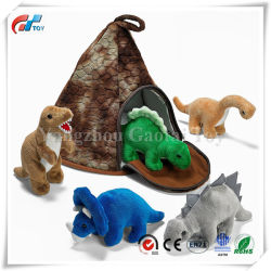 Volcán dinosaurio casa de 5 peluches dinosaurios gran regalo de Navidad para niños