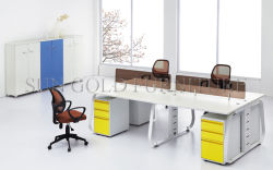 Divisorio di piccola dimensione moderno dell'ufficio 4-Person con il basamento fisso (SZ-WS017)