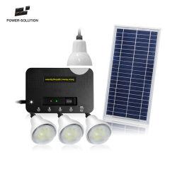 Kits de iluminação doméstica Solar e carregue telemóveis