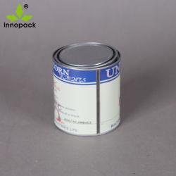 Piccolo mini barattolo di latta rotondo stampato del metallo 1liter con il coperchio