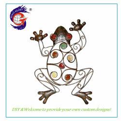 Творческие утюг ремесел металлические лягушка скульптура стены Dé Cor для использования вне помещений для использования внутри помещений искусства для подвешивания Garden Home патио крыльцо ограждения украшения