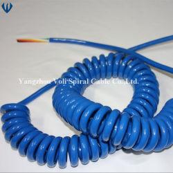 De UV Flexibele Spiraalvormige Draad Gerolde Kabel 4cores 5cores 7core PUR van de Weerstand