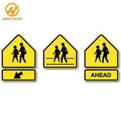 Tableau de concordance de la route de gros d'usine Attention signe d'avertissement d'urgence