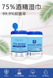 Virus dell'alcool di 75% anti che pulisce i Wipes di sterilizzazione dei Wipes del disinfettante di pulizia antibatterica portatile bagnata dei Wipes a gettare