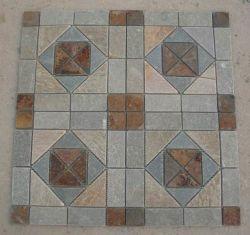 Mehrfarbenschiefer-Mosaik-Stein für Wand-Dekoration-Stein