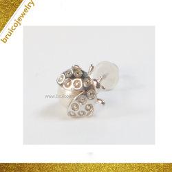 Mode bijoux 925 Sterling Silver Scarab Stud Earrings Bijoux avec Pearl