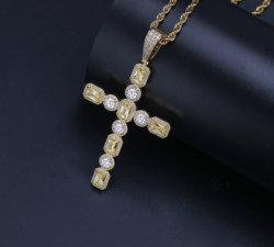 Хип-Хоп мелочь цветных мужчин CZ Креста подвесной ожерелья Ювелирные изделия