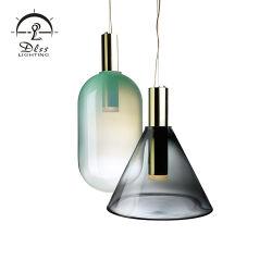 Haute qualité accueil unique parfait Smoky pendentif en verre de lampe de couleur grise