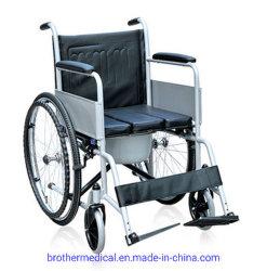 La rehabilitación el uso de acero plegado manual cómoda silla de ruedas para ancianos