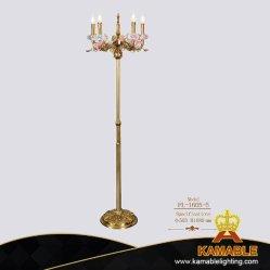 Hotel-dekorativer keramischer Blumen-Messinghauptfußboden-stehende Lampe (FL-1605-5)