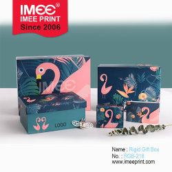Печать Imee оптовой пользовательский размер Фламинго шаблон дизайн подарочная упаковка бумажных упаковочных материалов