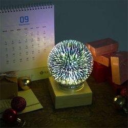 중국 공급자 홈 훈장 USB에 의하여 운영하는 3W LED 3D 마술 유리제 공 밤 빛