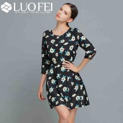 Floral Rayon Longitud Mini Vestido Moda Mujer fabricante
