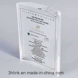 Акрил Lucite Plexiglass Плексигласа PMMA Crystal финансовых надгробных плит