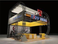 Système de treillis pour stand d'exposition de grande taille écran