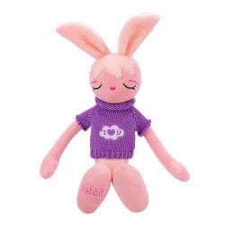Красивые индивидуальные добавить логотип роскошные Мягкие плюшевые игрушки заяц игрушка