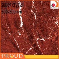 China Venda Quente Piso vermelho brilhante de alta Tile 80X80