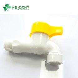 La palanca amarilla de PVC blanco de plástico pequeño grifo PP toca