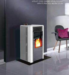 Nouveau style de poêles à granulés de bois/cheminée /brûleur avec certificat CE (CR-02)