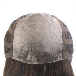 Máquina Wefts inyectados con la parte superior de la piel peluca cabello humano.