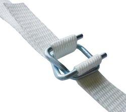 Bandes de cerclage en polyester tissé aussi forte que l'acier avec boucle de ceinture