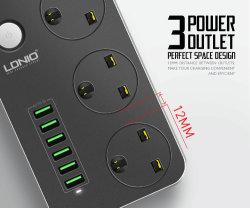 Multi Energien-Anschluss 6 USB-Extension mit 3 Anschluss-aufladenkanal-elektrischer Extensions-Kontaktbuchse