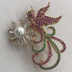 Haut de gros de haute qualité de la mode Crystal Brooch/bijoux personnalisés
