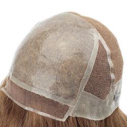 Lw4874 Lace مع السيليكون المحقون من نوع مخصص طبيعي جدًا تم صنعت غطاء كامل wig