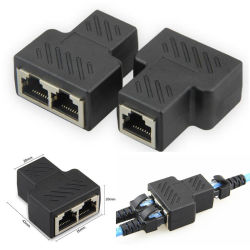 Connettore della porta del Internet di Pin della femmina del connettore 1 di lan dell'adattatore del divisore RJ45 - 2 della femmina 8