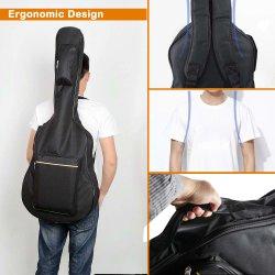 Sacchetto della chitarra una cassa registrabile doppia riempiente spessa della 41 di pollice della chitarra acustica della jola del sacchetto di Oxford del tessuto di spalla chitarra della cinghia