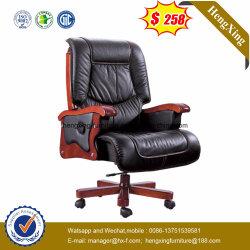 Madera de lujo Armest silla columpio ejecutivas de cuero