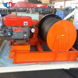 Outdoor Wire Rope treuil moteur diesel powered
