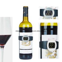 Garrafa de vinho e champanhe Termómetro Elástico Instan termómetros de leitura digital com display LED para Wine Enthusiast Termómetro bracelete de Vinho Tinto