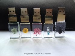 Hot Sale Custom Crystal Don lecteur Flash USB avec LED