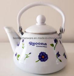 caldaia graziosa dello smalto del POT del tè del Enamelware 1.2L con la maniglia/teiera della bachelite