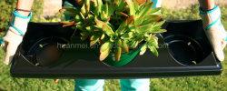 '' runder Potenziometer Thermoforming Garten-Pflanzer-Schwarz-Gallonen-Potenziometer der Blumen-7.5