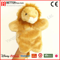 Plush filhos/Crianças Brinquedo Leão Animal Fantoche de mão