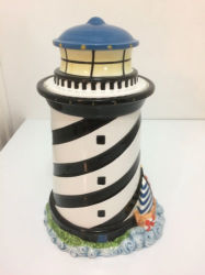 Lighthouse Cookie Jar Kitchen Home Decor Light House Ceramic