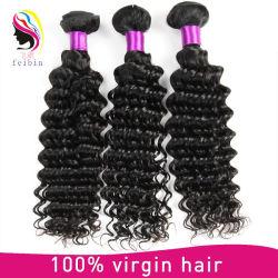 Commerce de gros cheveux vierges profonde des extensions de cheveux humains d'onde