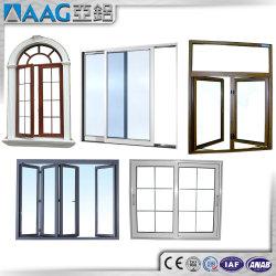 توفر الجهة المصنعة نوافذ منزلقة من الألومنيوم/الألومنيوم بدون moq