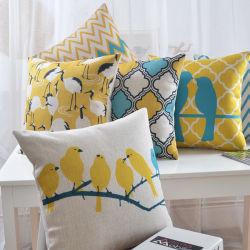 Yrf Cotton Linnen Square Pastoral Style Plant En Vlinder Kleurrijke 18x18 Inch Decoratieve Throw Pillow