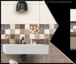 Pierre blanche de style arabe revêtement mural 300X600 carreaux de céramique à fixation murale