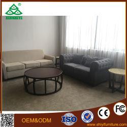 Mobiliario moderno sofá-cama redonda con mesa de té