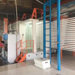 La línea de pintura electrostática en polvo automático Línea de revestimiento para el perfil de aluminio